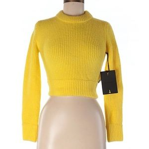 Unif Ribbed Yellow Sweater